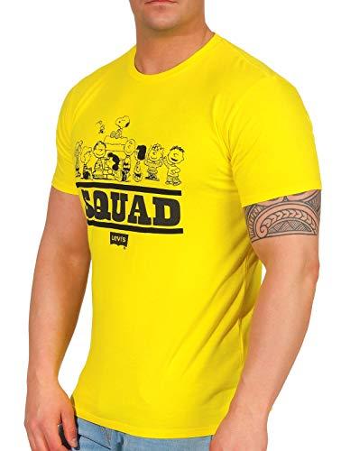 Levis Graphic Setin Neck 2 Peanuts Tee Squad Yellow S -
