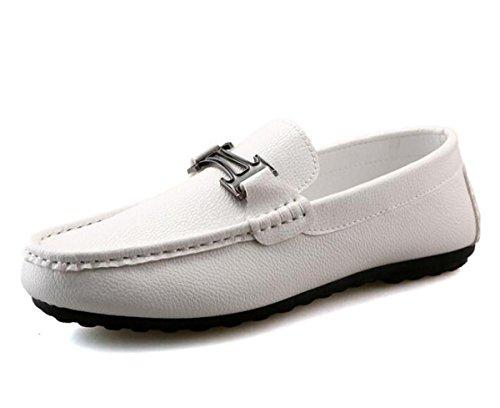Beauqueen Pattini Uomo Comodità Mocassini Vuotosi Soft Outsoles Slip-on Slip-ons Scarpe casuali UE Size 38-44 White