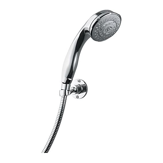 Hindware F160055CP 5 Flow Hand Shower with 1.5M Flexible Tube with Hook (Chrome)