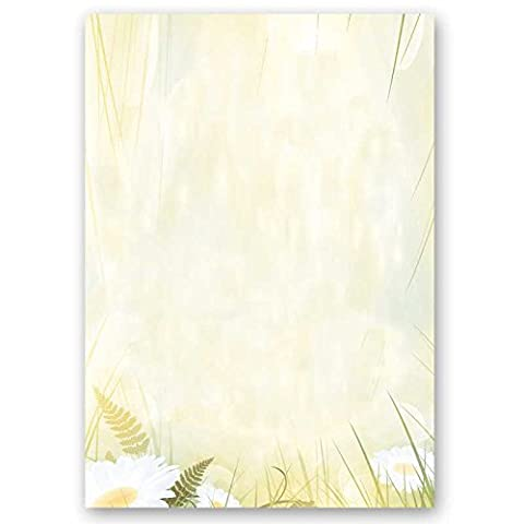 Motif paper – Stationery paper DAISIES 100 sheets DIN
