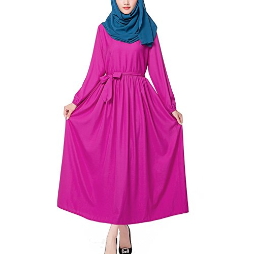 hibote Muslime feste Farbe langärmelige Robe Islam Islam Tunika ...