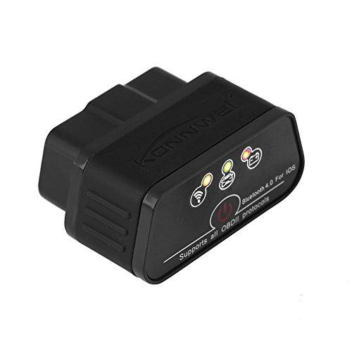 Preisvergleich Produktbild Qiilu KONNWEI KW903 Bluetooth 4, 0 ODBII Auto Diagnose Scanner Werkzeug Fehlererkennung für IOS(Swarchz)