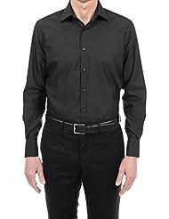 Bruce Field - Chemise droite en coton piqué à poignet mousquetaire - Modèle 4117