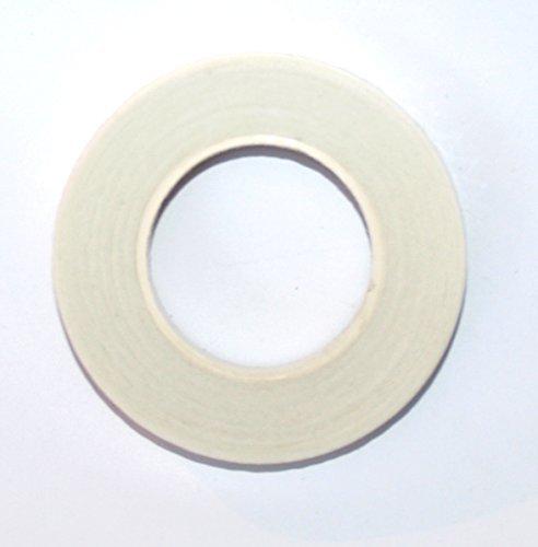 2 bobine di bianco Nastro Del Gambo 27,4 m x 13mm. Staminali - Tex. Per Corpetti, Mazzi di Fiori, fiori, Accordi e mestieri, Sugar Mestiere ecc