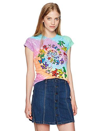 Dead - Spirale Bären Krawatte Juniors T-Shirt-Klein (Grateful Dead Bären)