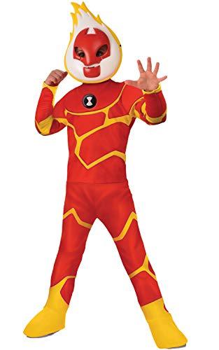 Ben Zehn Kostüm - Ben 10 Deluxe Heatblast Child Costume