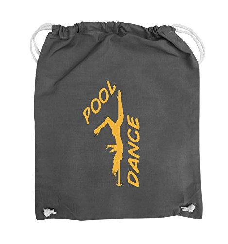 Comedy Bags - POOL DANCE - FIGUR - Turnbeutel - 37x46cm - Farbe: Schwarz / Silber Dunkelgrau / Gelb
