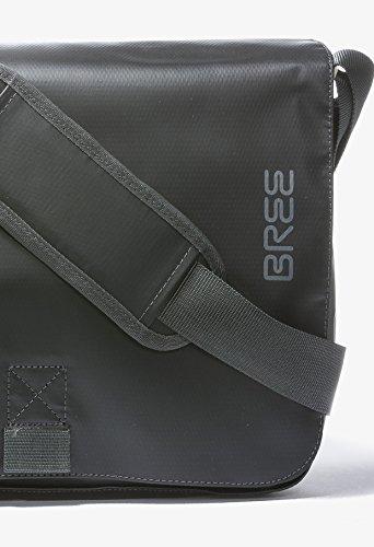 BREE, Borsa a spalla uomo Blu skydiver-hellblau 34 cm x 24 cm x 8 cm (B x H x T) black
