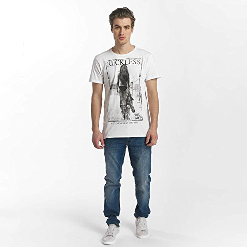SHINE Original Uomo Maglieria/T-Shirt Dusty Photo Print Bianco