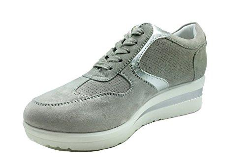 MUDS , Chaussures de ville à lacets pour femme Gris