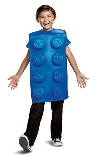 Personen Kostüm Vier Einfache - LEGO DISK66168L Baustein Kostüm, Blau, Klein