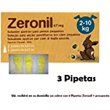 3 Pipeta antipulgas perros 2-10 Kg Zeronil 67mg anti pulgas y garrapatas Spot On pipetas