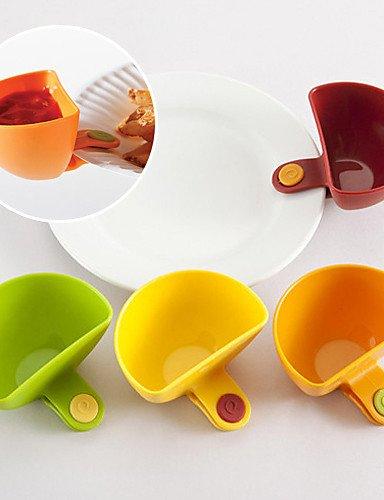 MEICHEN ensemble de 4 mini-clip-on cuisine récipient de mettre bol de sauce au vinaigre (couleur aléatoire) , multi color