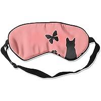 Comfortable Sleep Eyes Masks Black Cat Pattern Sleeping Mask For Travelling, Night Noon Nap, Mediation Or Yoga preisvergleich bei billige-tabletten.eu