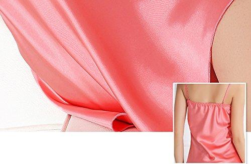 Ambysun Sexy Lingerie Women Lace Babydoll Chemise Sleepwear Watermelon Red