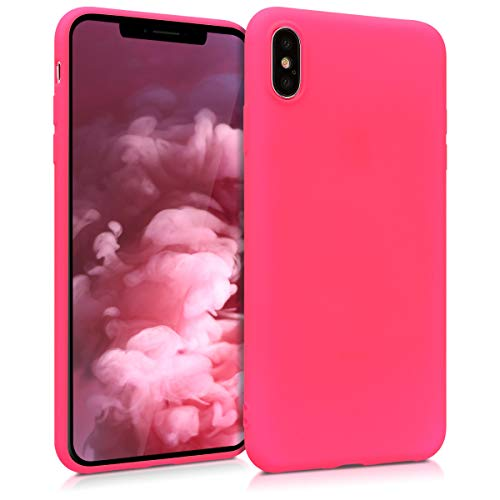 kwmobile Apple iPhone XS Max Hülle - Handyhülle für Apple iPhone XS Max - Handy Case in Neon Pink