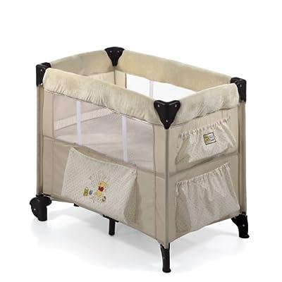 Hauck 608029 Dream'n Care 11 - Cuna de viaje con colchón regulable y 2 ruedas (medidas colchón: 81 x 46 cm, para bebés hasta 9 kg), color beige