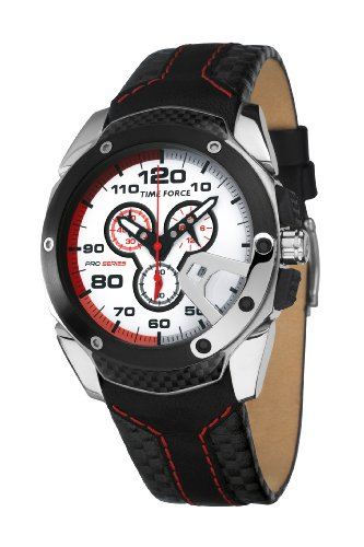 Time Force TF2994M02 - Orologio da polso donna, pelle, colore: nero