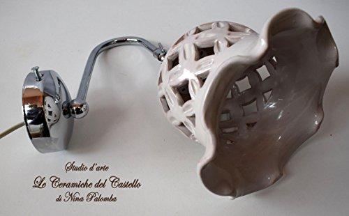 Applique traforato bianco orientabile ceramica braccetto in