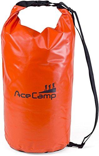AceCamp wasserdichter Packsack Daypack schwimmfähig mit Tragegurt 55 x 24 cm, 20 Liter, Orange, 24613