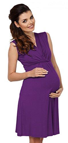 Zeta Ville - Maternité Robe trapèze de grossesse d'allaitement - femme - 808c Pourpre