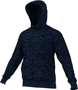 Veste à capuche Adidas Essentials 3 bandes pour homme XS Dunkelblau/Schwarz