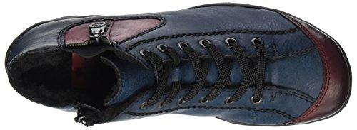 Rieker L6529, Sneaker a Collo Alto Donna Blu (Wine/navy)