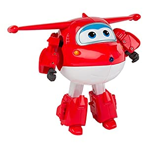Super Wings - Jett, personaje transformable, 14.5 cm, color rojo y blanco (ColorBaby 75872)