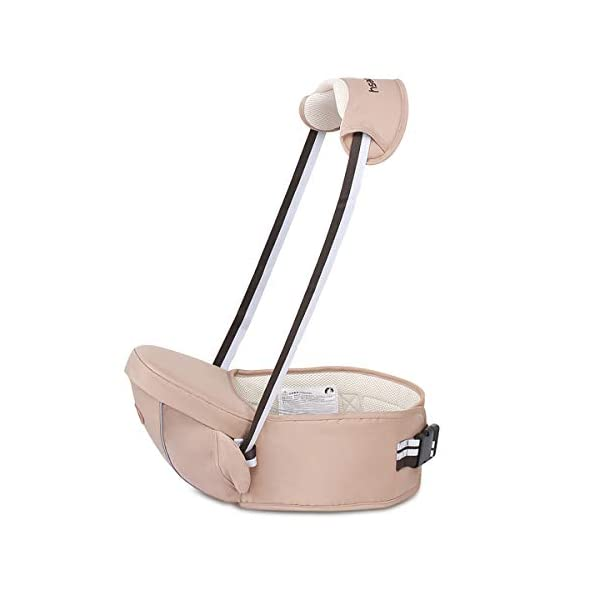 SONARIN Multifunctional Hipseat Baby Carrier,Free Size,Toddler Hip Seat Carrier,Front Carrier Belt,4 Carrying Positions,Adapted to Your Child's Growing,Ideal Gift(Light Brown) SONARIN Applicable age and Weight:0-36 months of baby, the maximum load: 20KG, and adjustable the waist size can be up to 45.3 inches (about 115cm). Material:designers carefully selected comfortable and cool polyester fabric, light, tear-resistant, breathable,Inner pad : EPP Foam,safe and no deformation. Description:Sturdy buckle and inner soft padded ensuring baby safety and parent's comfort.It takes 1 second to put on.Nothing is more convenient.Side with small pockets, in order to store handkerchiefs, wallets and mobile phones and other small items. 1