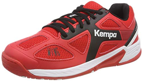 Kempa Unisex-Kinder Wing JUNIOR EBBE & Flut Multisport Indoor Schuhe Lighthouse Rot/Schwarz 06, 35 EU