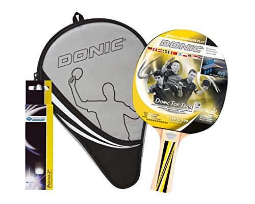 Donic-Schildkröt Tischtennis Geschenkset TOP TEAMS 500 1 Schläger 3 Bälle Schlägerhülle, 788480