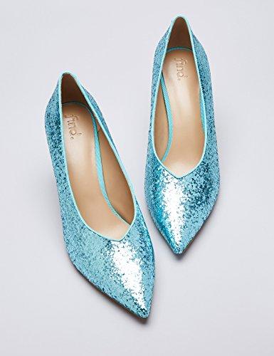 Find Glitter Court, Chaussures À Talons Hauts Pour Femmes (aqua)