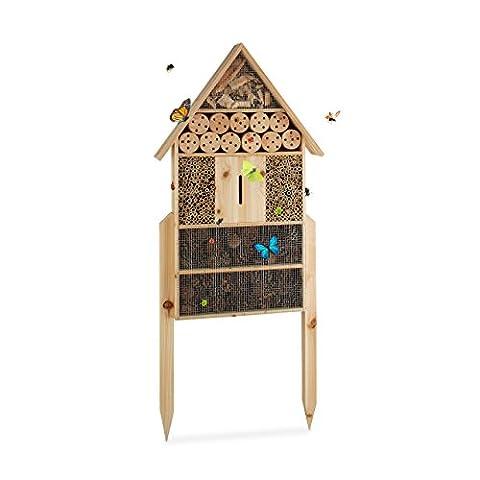 Maison Coccinelle - Relaxdays Hôtel à insectes sur pied nature