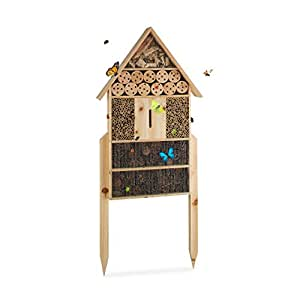 relaxdays insektenhotel xl stehend nisthilfe f r bienen. Black Bedroom Furniture Sets. Home Design Ideas