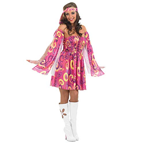 (Fun Shack Damen Costume Kostüm, Hippie Swirl Dress, Größe S)