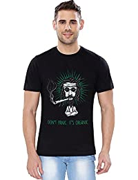 The Souled Store It's Organic (Glow in Dark) Alcohol Printed Premium BLACK Cotton T-shirt for Men Women and Girls