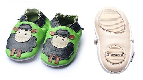 Designed Mini Maedchen Groeßen By Hausschuhe Sheep Sole Div Krabbelschuhe Lederpuschen Black Amsomo Leder Jinwood Soft Shoes Echt Jungen 1wCqdCU