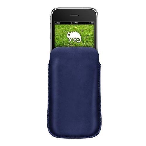 Katinkas KATIP31061 Ledertasche für Apple iPhone 3G/3GS Pouch blau Iphone 3g Leder-holster