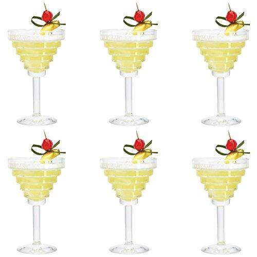 Durobor bicchieri modello etore, per martini/margarita/cocktail/bevande, da 260 ml - confezione da 6
