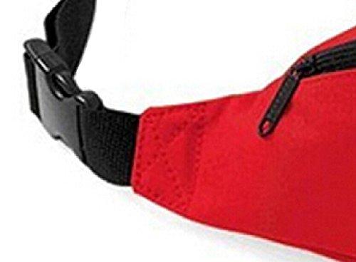 DATO Unisex Gürteltasche Klein Wasserdicht Sport Multifunktions Nylon Bauchtasche Tasche Hüfttasche Joggen Sport Gürtel Hip Pack BagBase Rote