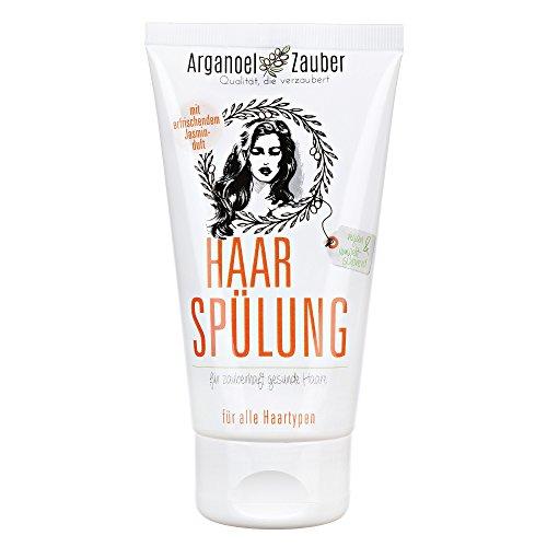 Haarspülung ohne Silikon | Conditioner speziell gegen trockenes & strapaziertes Haar | 150 ml Naturkosmetik von Arganoel-Zauber