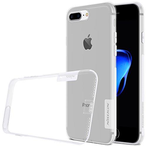 KaiTelin Apple iPhone 7 Plus Hülle - Extra Dünn TPU Transparente Weich Hülle Case Schutzhülle für Apple iPhone 7 Plus - Himmel blau Weiß