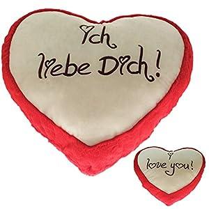 Krüger & Gregoriades 124310-Peluche Corazón Amor Corazones, 20cm, Color Rojo