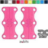 Zubits® - Fermetures magnétiques pour chaussures- Rose Taille 3