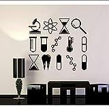 Jixiaosheng Adesivi Murali Scienza Università Scuola Laboratorio Chimica CreativeCal Interior PareteCorativa Rimovibile Murale 63 * 56Cm