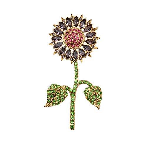 Kristall Sonnenblume Blumenbrosche für Frauen Geschenke ()