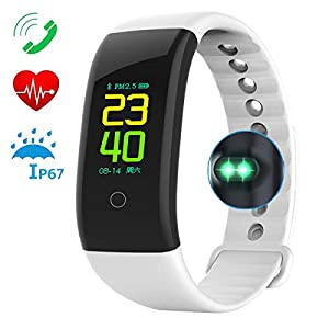 Waterproof Fitness Tracker, Color Screen Activity Tracker Watch Heart Rate Monitor, Wearable Smart Fitness Band Step…