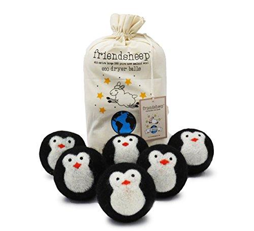 Lana orgánica Eco bolas secadora - negro pingüino