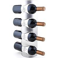 Support de rangement mural en acier inoxydable pour 4bouteilles de vin