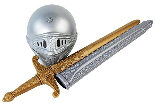 Adelige Ritterrüstung Ritter Kostüm Schwert mit Scheide und ()